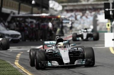 Hamilton bateu o recorde da pista de Albert Park e por pouco não virou abaixo de 1 minuto e 22 segundos (Foto: Divulgação/Mercedes AMG F1)