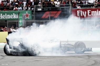 Lewis Hamilton, tras proclamarse pentacampeón | Foto: Getty Images