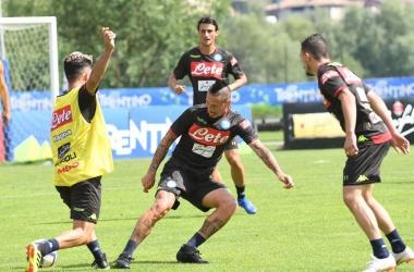 Napoli, ultimo test Trentino, c'è il Chievo