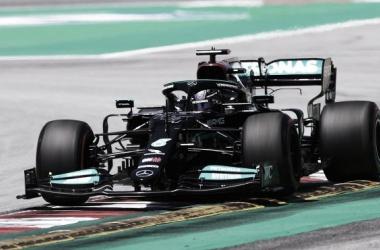 Lewis Hamilton logra la pole en el Aramco Gran Premio de España. (Fuente: F1)