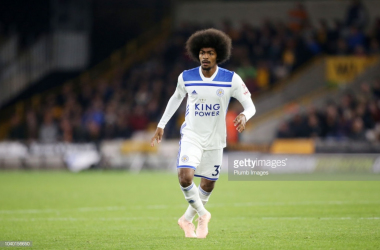 Choudhury during a Carabao Cup clash between Leicester City and Wolverhampton Wanderers | Photo: Getty/ Plumb Images