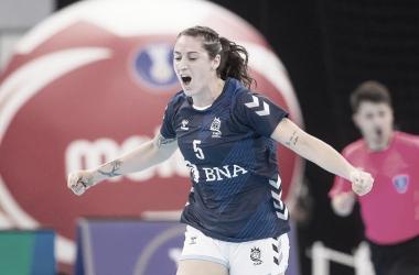 Primer éxito de La Garra. Foto: Handball Argentina.