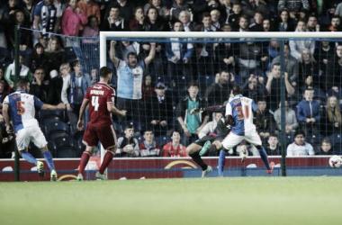 Hanley turns in Blackburn's late equaliser - image via newslocker.com