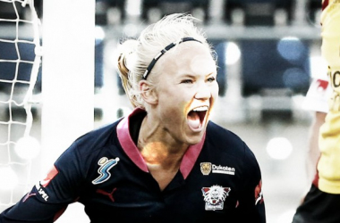 One of Linkoping's key players Pernille Mosegaard-Harder. (Image Source: svt Sport)
