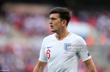 Harry Maguire wore the Three Lion's shirt in England's 4-0 win over Bulgaria