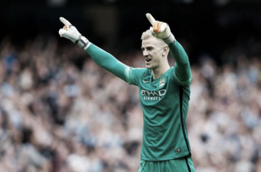 Picture source: Manchester Evening News - City 'keeper Joe Hart is yet to concede a goal this season and is in inspired form