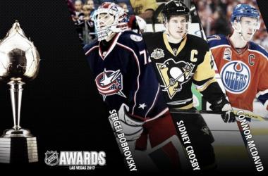 Los tres candidatos al Hart Trophy. Foto: www.nhl.com