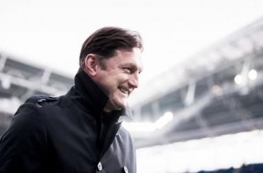 Leipzig de Hasenhüttl colou no G-4 do Campeonato Alemão (Foto: Robert Michael/AFP)