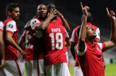 Hassan, auteur du premier but de la rencontre. UEFA.com