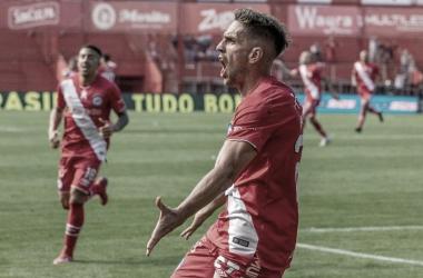 El gol del Demonio Hauche decretó el triunfo de Argentinos: Foto: Joreg Funes/ AAAJ.