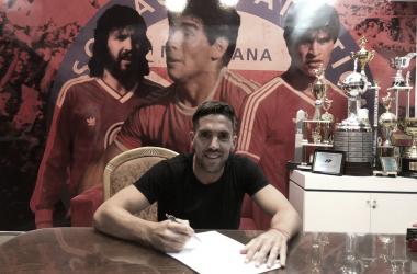 Hauche prolongó su contrato. Foto: Twitter Argentinos Juniors.
