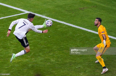 Kai Havertz of Germany and Rui Patricio of Portugal during the UEFA Euro 2020 Group F match between Portugal and Germany at Allianz Arena on June 19, 2021 in Munchen, Germany (Photo by Andre Weening/BSR Agency/Getty Images)