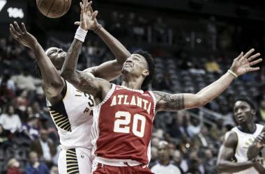 Atlanta cortó una racha de cuatro derrotas ante Indiana.   Foto: Washington Times