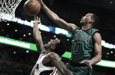 Atlanta Hawks host Boston Celtics at Phillips Arena. | Jim Davis/ The Boston Globe