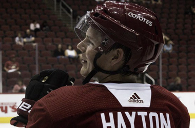 "<div style=""text-align: start;"">Barrett Hayton has made an impression with the Coyotes and will be in the NHL. 