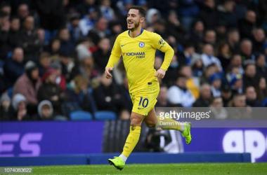 Hazard celebrates. (Photo: Getty Images/Darren Walsh.)