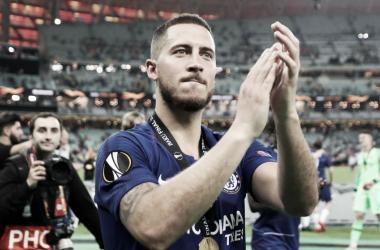Hazard tras conseguir la Europa League / Imagen: Bradley Collyer