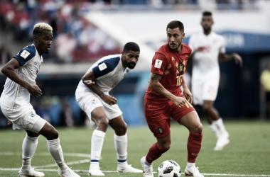Eden Hazard en su debut frente a Panamá en el mundial | Fuente: Twitter Selección de Bélgica .
