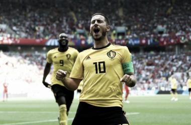 Hazard celebrando un gol. Imagen: FIFA