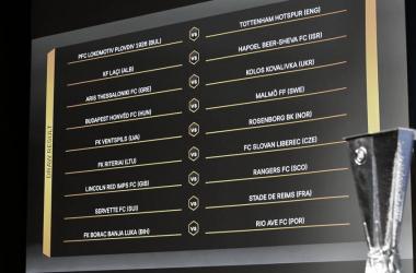 Com Tottenham e Milan, Uefa define confrontos de segunda fase eliminatória na Europa League