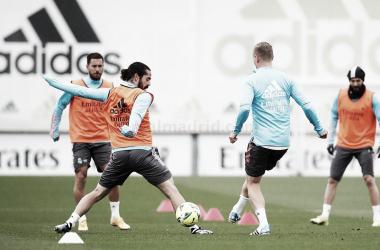 Imagen del entrenamiento del viernes 9 de Abril. Fuente: Real Madrid