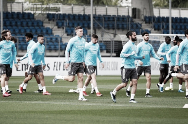 Imagen del entrenamiento del Real Madrid| Fuente: Real Madrid C.F