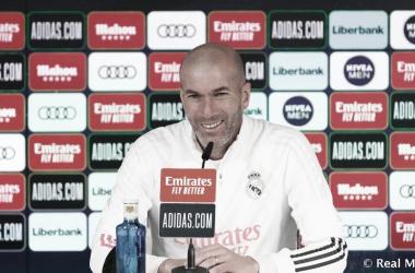 ZIdane en la rueda de prensa | Foto: Real Madrid CF