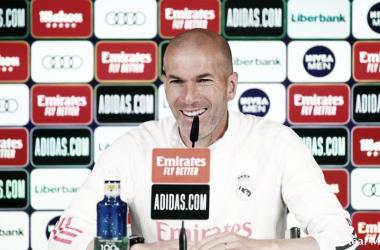Zinedine Zidane en rueda de prensa previa al partido frente al Cádiz| Fuente: Real Madrid C.F