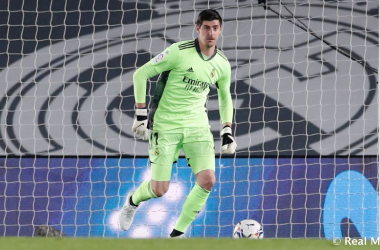 Thibaut Courtois en el partido | Real Madrid