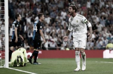 Sergio Ramos celebra un gol / Foto: Real Madrid