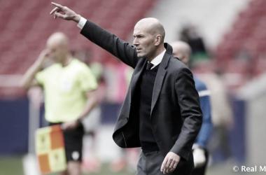 Zidane durante el Atlético de Madrid - Real Madrid | Fuente: Real Madrid
