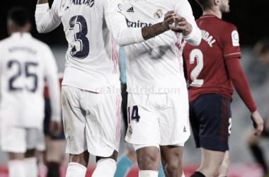 Los artífices de la victoria blanca. // Foto: Real Madrid