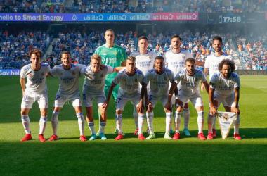 Jugadores posando en el primer partido. Fuente: Real Madrid