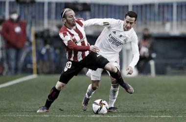Lucas Vázquez en el partido ante el Athletic | Foto: Real Madrid C.F.