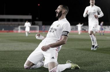 Karim Benzema volvió a marcar en un Clásico | Fuente: Real Madrid