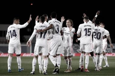El equipo ante el Barcelona | Foto: Real Madrid CF