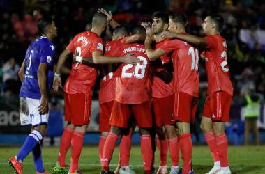 El Real Madrid de Solari venció con claridad al Melilla en Copa del Rey. | Foto: Real Madrid