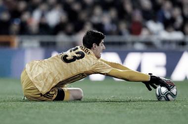 Courtois consiguió un nuevo récord de imbatibilidad: 535 minutos sin encajar gol | Foto: Web Oficial del Real Madrid