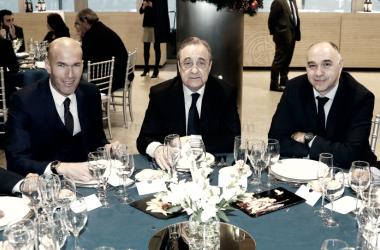 El Real Madrid, de comida por Navidad