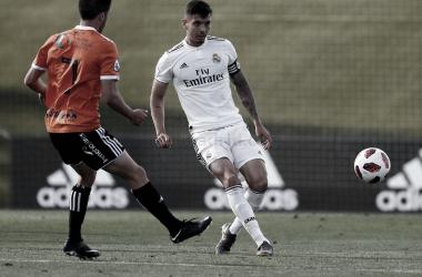 Javi Sánchez durante el partido de ida | Foto: Realmadrid.com