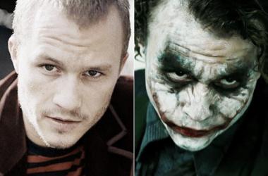 Heath Ledger sin caracterizar y caracterizado como el Joker. / Foto: Naver