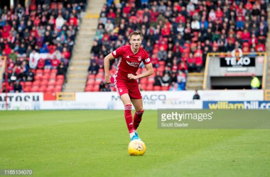 Ryan Hedges scored in his third consecutive SPFL game at Pittodrie today. Photo by Scott Baxter/GettyImages