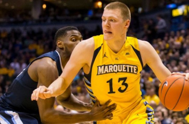 Henry Ellenson set a new Marquette freshman scoring record in the Golden Eagles' losing effort on Saturday. (Photo credit: USA TODAY)