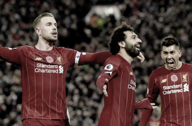 Salah fue autor de uno de los tres goles de Liverpool | Foto: Premier League