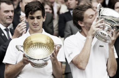 Herbert y Mahut en Wimbledon. Foto: wimbledon