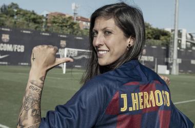Jennifer Hermoso, fichaje del Barça. FOTO: Fútbol Club Barcelona