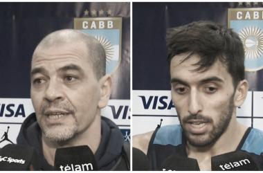 Sergio Hernández y Facundo Campazzo. Foto: gentileza de TyC Sports