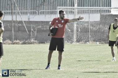 Hernán en uno de los primeros entrenamientos. Foto: José Luis Cotobal