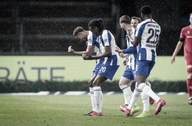 Berlín es azul: Hertha BSC goleó 4-0 al Union