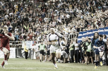 Action from last year's Las Vegas Sevens between USA and Canada (image via: USASevens)